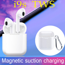 I9s TWS wireless bluetooth headset in-ear dual earphone with charging case microphone sports mini stereo bluetooth headset 5.0 цена