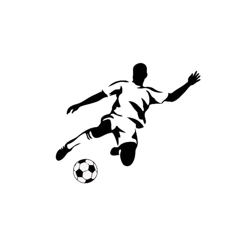13 2 11cm Stylish Football Sports Car Stickers Cartoon Car Styling Vinyl Decals Black Silver C7 0187 Decal Supplier Decaldecals For Toy Cars Aliexpress