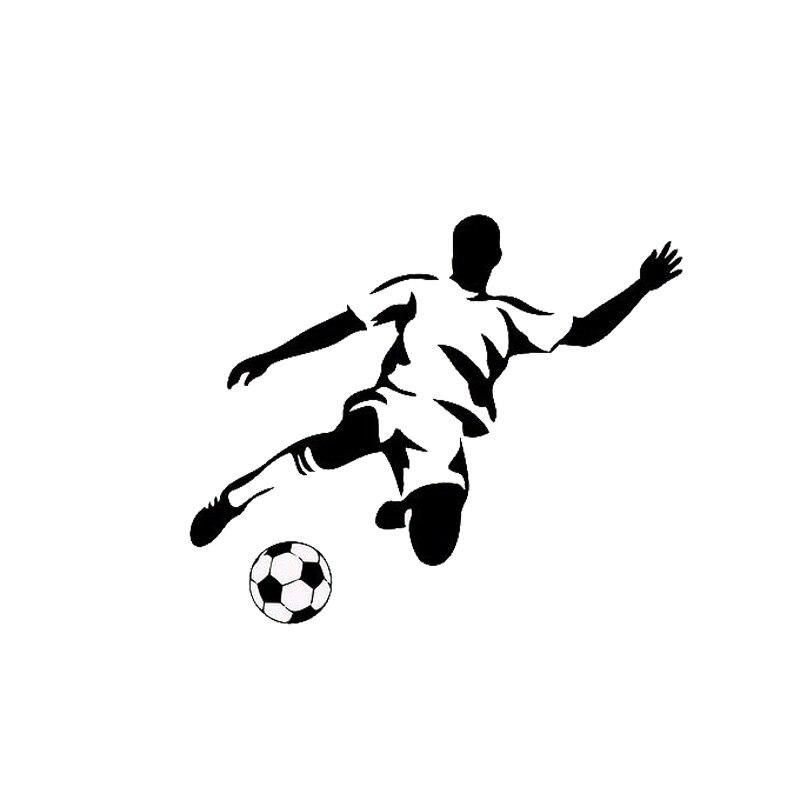 13.2*11CM Stylish Football Sports Car Stickers Cartoon Car Styling Vinyl Decals Black/Silver C7-0187