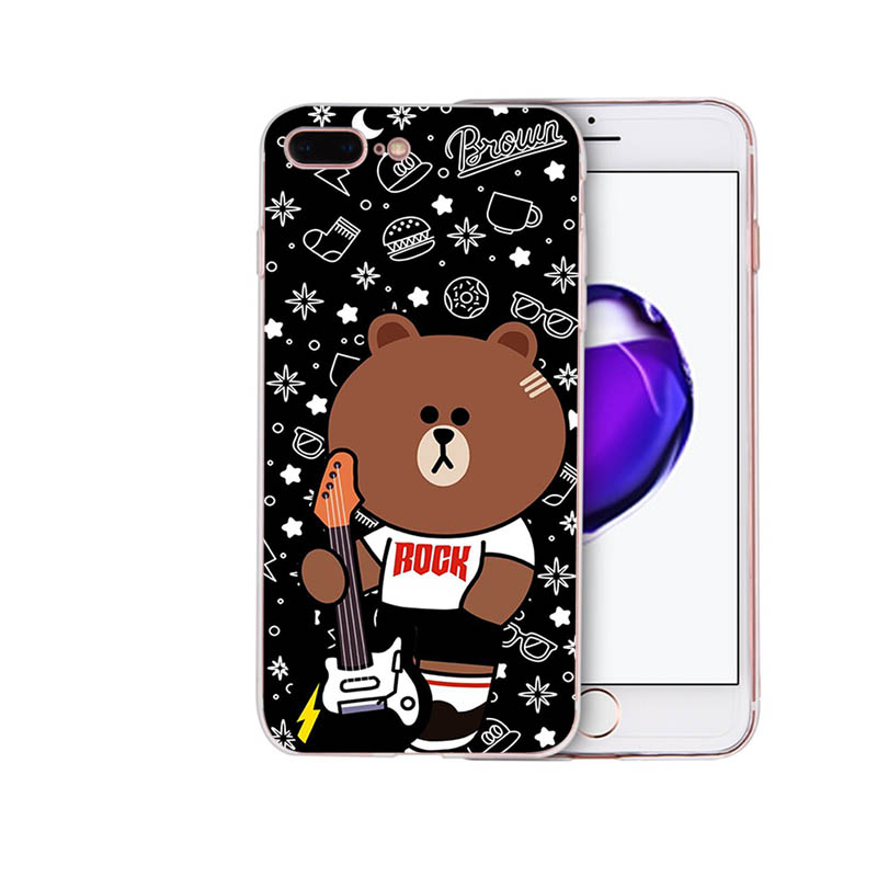 IMIDO Soft silicone phone case Cute little bear and his friends for iphone 8 7 6 5 x xs xr xsmax 6s 6 7 8plus 5s 6s se TPU shell in Half wrapped Cases from Cellphones Telecommunications