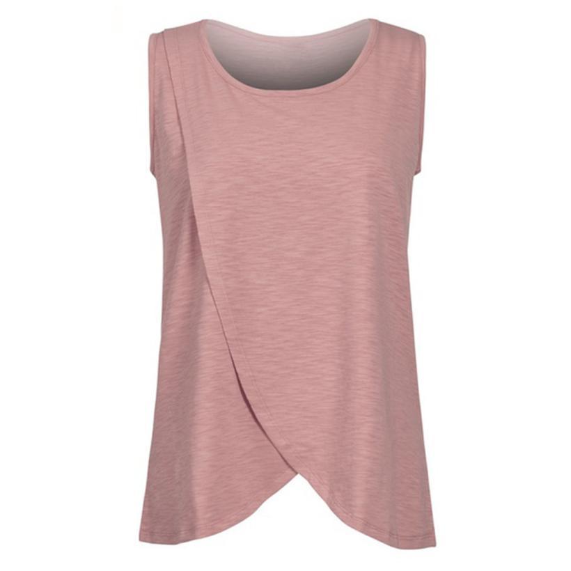 feitong Tank Top for Women 2018 plus size women clothing o-neck sleeveless  loose tank 8346a15b58cb