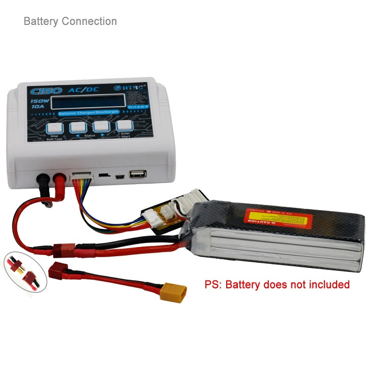 New Arrival HTRC C150 AC/DC 150W 10A Smart Battery Balance Charger Discharger For RC Lipo Battery RC Models Parts Toys Accs
