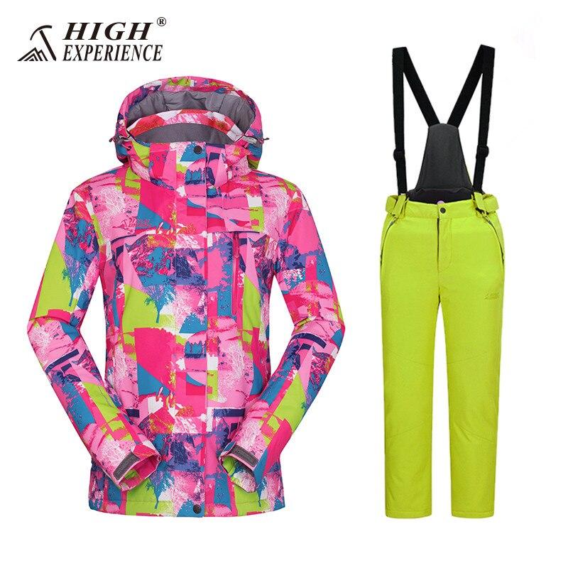 Costumes de Ski pour filles russes pour enfants sports de plein air costumes vestes d'hiver pantalons imperméable Snowboard ensembles pour filles Snowsuit 4 T 16 T