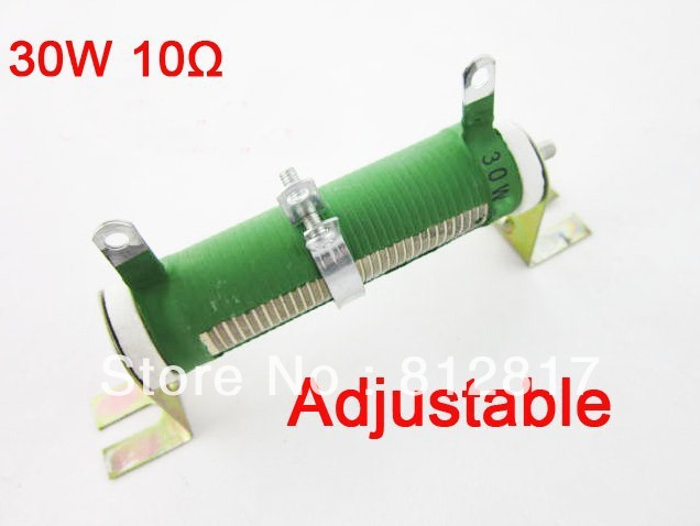 Variable Resistor Wire Wound Rheostat Resistor 10 Ohm 5% 30W-in ...