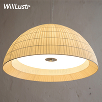 minimalist fabric glass shade pendant lamp nordic Europe home bedroom hotel dinning room restaurant half sphere pendant light