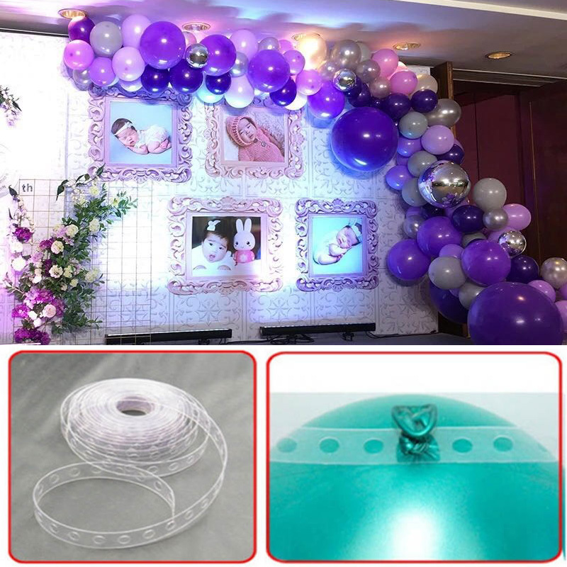 Us 1 27 26 Off 1pc New Roll 5m Balloon Decorating String Transparent Balloon Strip Diy Balloon Arch Strip Tape Cake Gift Table Party Decoration In