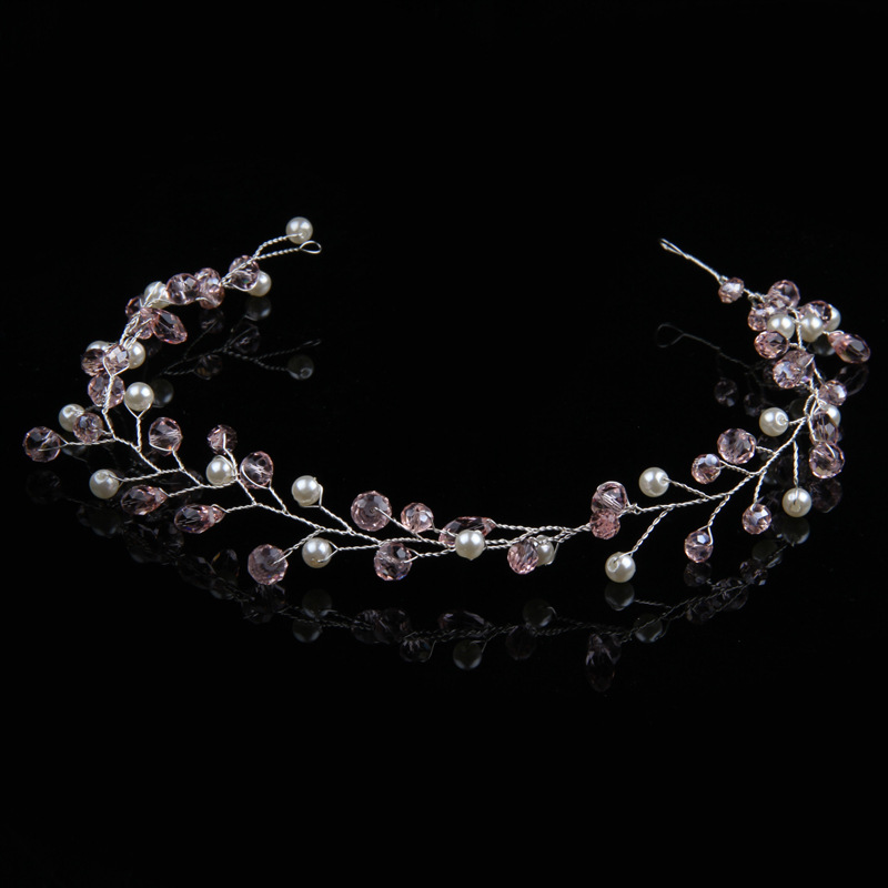 Jewelry & Watches Engagement & Wedding Diamante Crystal Faux Pearl Wedding Tiara Headband Crown Wreaths Elegant In Style