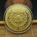 Maya Memorial Münze Pyramiden Münzen Amerikanischen Münzen Mexiko Aztec Gold und Silber Ausländischen Nicht-währung Münzen
