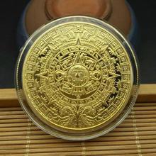 Maya memorial moeda pirâmides moedas moedas americanas méxico asteca ouro e prata moedas estrangeiras não-moeda