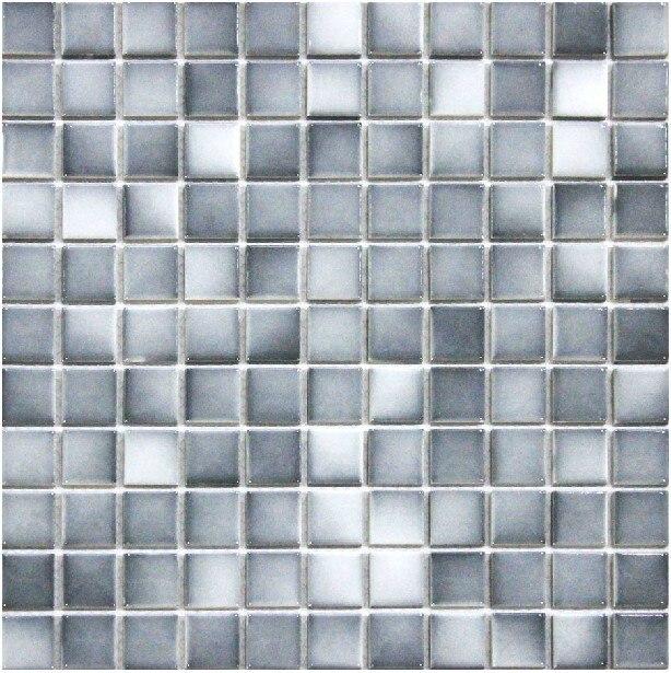 Gradiente gris de cerámica del azulejo de mosaico porcelana ...