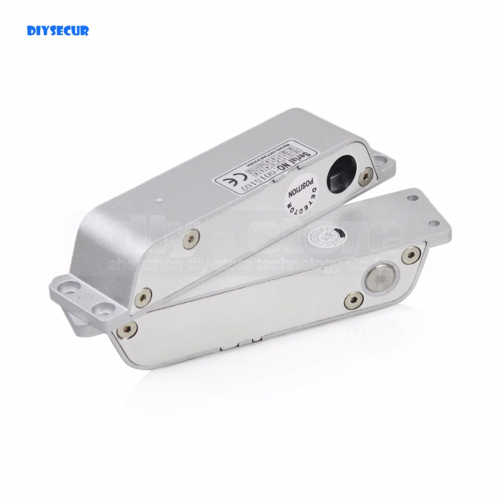 DIYSECUR DC 12V/24V Electric Drop Bolt Lock Electric Mortise Lock for Door Access Control Security Door Look dc 24v 0 77a door lock tubular electric solenoid coil