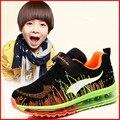 Nova Respirar Botas Meninos Sapatos De Futebol De Treinamento de Futebol Ao Ar Livre Dos Miúdos Das Crianças Adolescentes de Absorção de Choque Tênis De Basquete Tênis