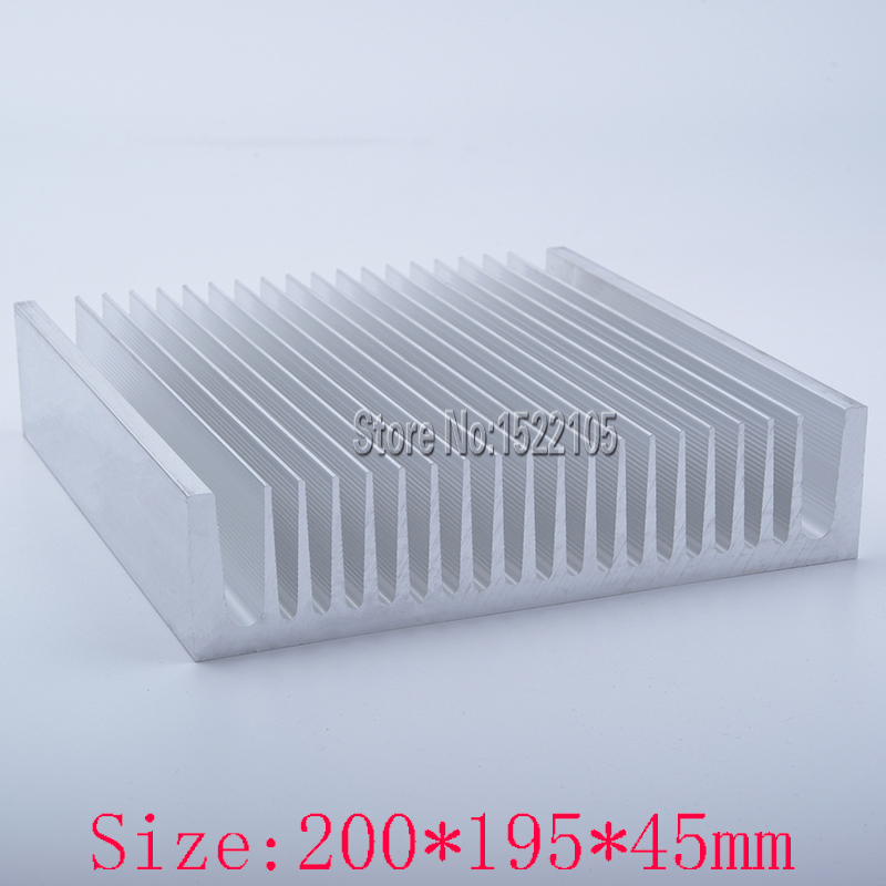 Heatsink 200x195x45mm industrial Aluminum heatsink heat sink high power radiator for cooling 1 pcs aluminum radiator heat sink heatsink 60mm x 60mm x 10mm black