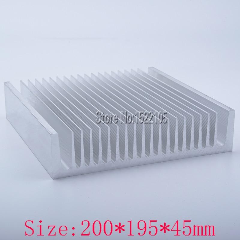 Heatsink 200x195x45mm industrial Aluminum heatsink heat sink high power radiator for cooling 1u server computer copper radiator cooler cooling heatsink for intel lga 2011 active cooling