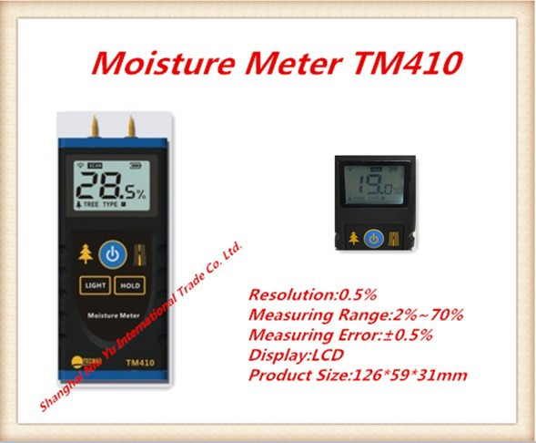 Hotsale meter TM410 2pin contact Display LCD portable wood moisture Measuring firewood Woodworking tools