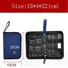 Tamaño pequeño Plate duro bolsa herramientas Kit Set bolsa envío gratis