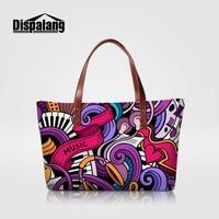 Dispalang Summer Women Messenger Bags Graffiti Printed Lady Handbags Music Skull Shoulder Bags Large Capacity Female Hand Bag