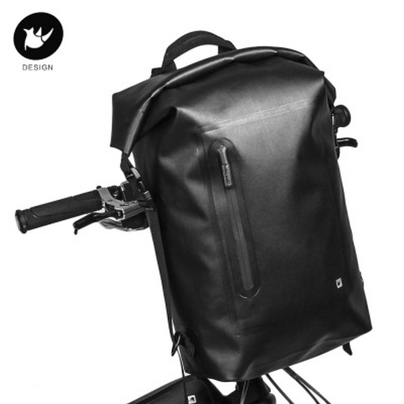RHINOWALK New Product Patent Bicycle Bag 20L Large Capacity Multi-function Waterproof Bike Front Bag Cycling Backpack Shelf Bag cycling multi function outdoor sports backpack bike bag 22l motorcycle rucksack backpack bag with waterproof rain cover