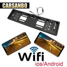Carsanbo ЕС Автомобильный регистрационный знак номерные знаки для мотоциклов рамки камера с wi fi функция frontview и заднего вида крепление доступны