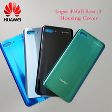 100%Original for HUAWEI Honor 10 Back Battery Cover Case 3D Glass Rear Housing Cover Honor10 Rear Door Cover + Adhesive Sticker(China)