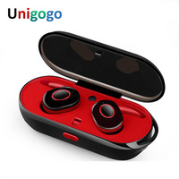 Mini TWS Earbuds True Wireless Sport Earphones Stereo Bluetooth Headphones With Microphone Charging Box Noise Cancelling