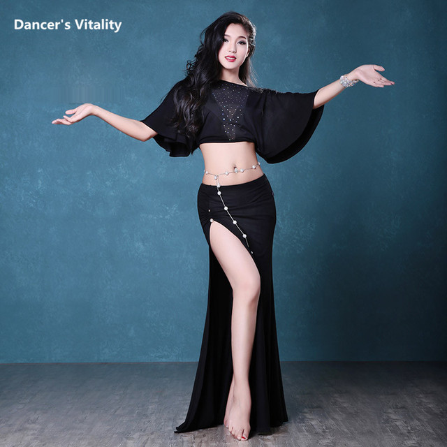 3243879b0 Professional Belly Dance Clothes Spandex Short Sleeves Top+Skirt ...