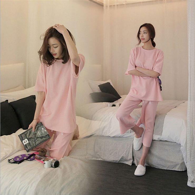 Women\'s Calf-Length Cotton Pajama Sets RBS-D RB11 2