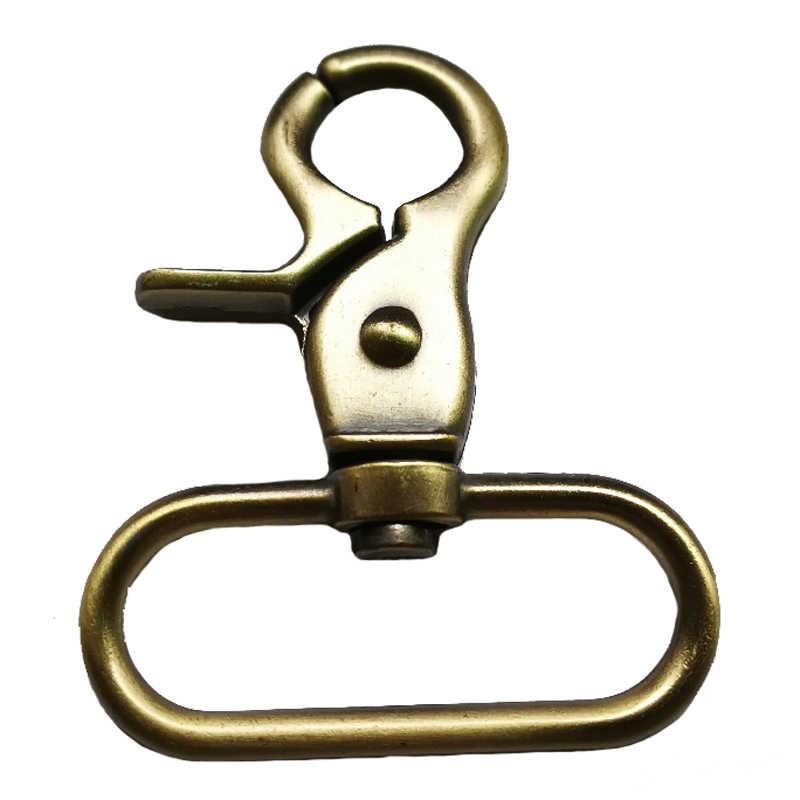 1 pieza de Metal DIY bolso accesorios bolsa de equipaje hebilla mosquetón bolso Correa adorno gancho giratorio perro bolsa Cierre de suspensión