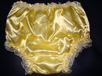 3 Pcs Adult Sissy Satin Frilly Incontinence Diaper Cover Full FSP08 3 Size S M L