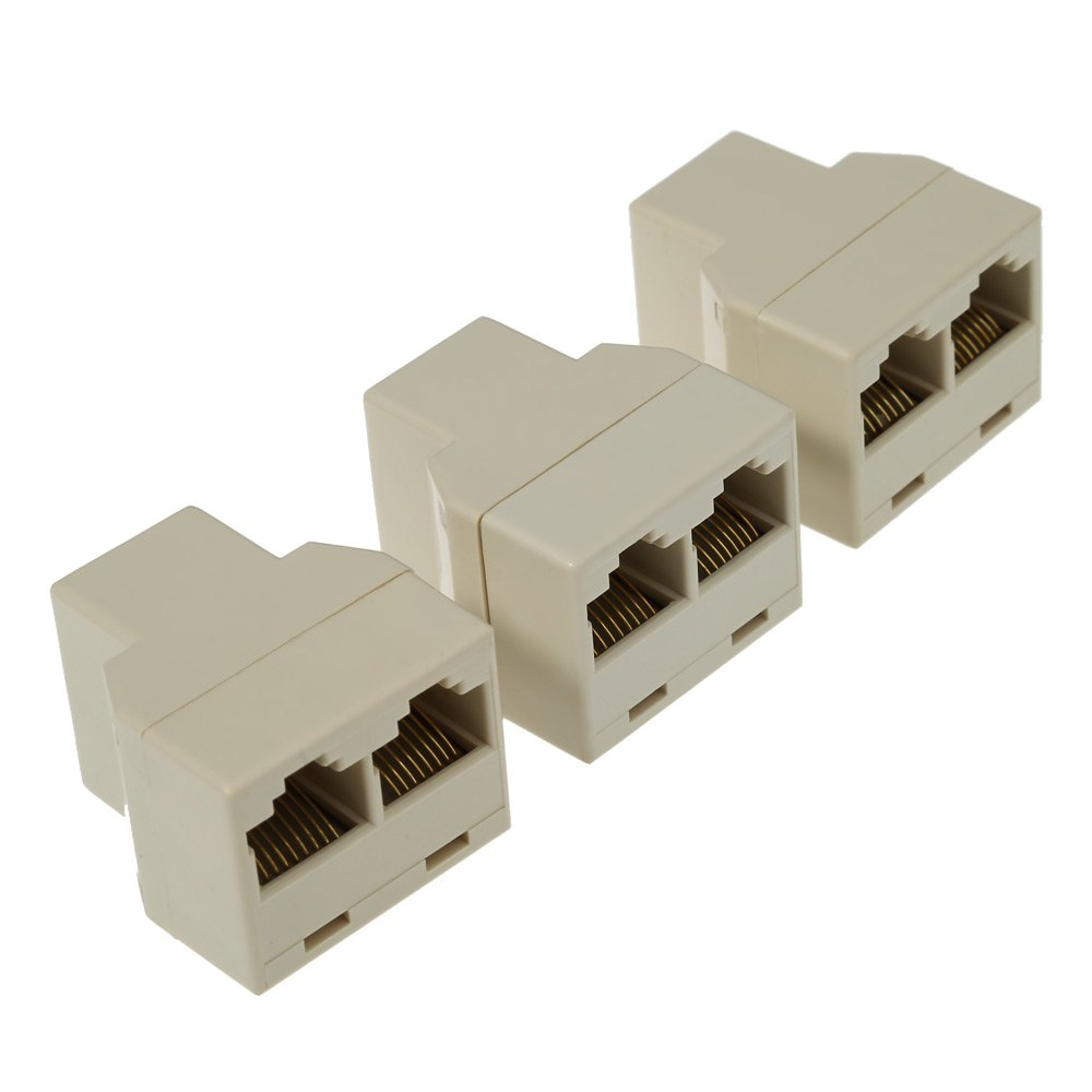 3pcs rj45 cat5 network lan cable extender connector coupler plug ethernet lan port 1 to 2 socket. Black Bedroom Furniture Sets. Home Design Ideas