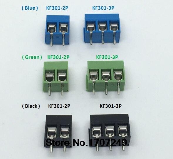 """120 Stks (blauw/groen/zwart) Kf301 Kf301-2p Kf301-3p Milieubescherming Koperen Voeten """"-"""" Schroef Blokaansluiting Geurige (In) Smaak"""