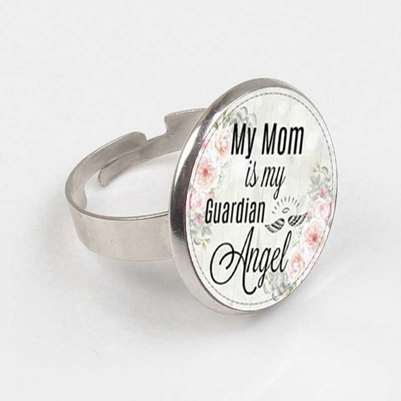 2019 мама, моя мать мой ангел-хранитель, памятный Шарм, в памяти, потеря матери, ангел камень по дню рождения кольцо