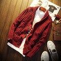 Otoño de Manga Larga chaqueta de Punto Para Hombre Cuello En V S309 Navidad Hombres Suéter Cardigan Hombres Suéter Hombres Chaqueta de punto Masculino
