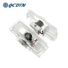 QCDIN for Citroen LED Car Logo Door Lights Laser Decoration Shadow Projector Light C4 C5 C-Quatre