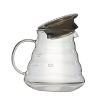 Heat Resistant Glass V60 Range Server 360/580/780ML Drip Kettle Water Bottle Barista Coffee Jug with Handle Rubber Seal Teapots