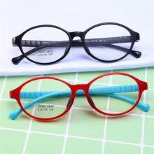 Модные овальные детские очки ярких цветов, оправа для детей, TR90, для мальчиков и девочек, очки по рецепту, ученик начальной школы, рамка для ПК