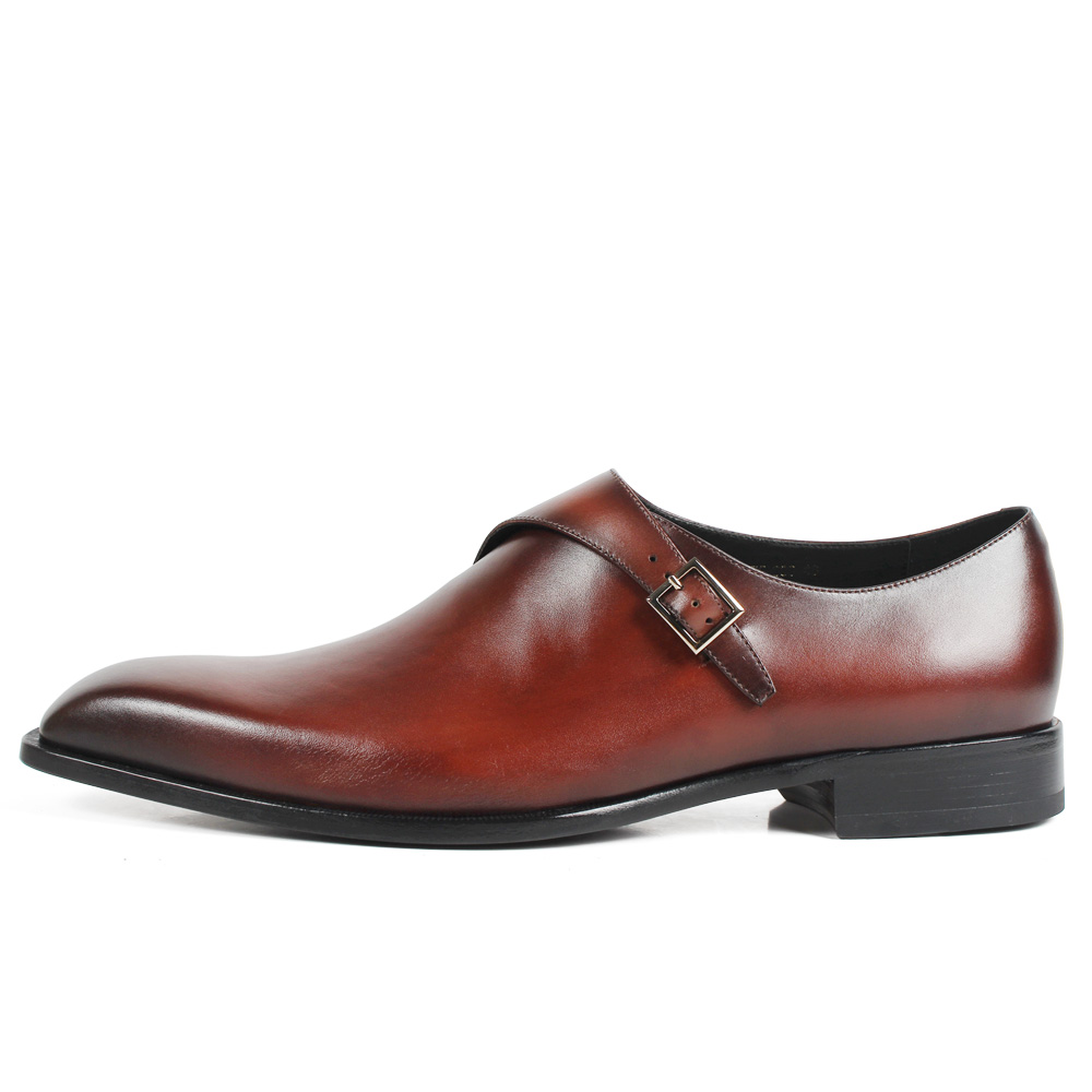 Vikeduo 2019 fait à la main marron mode luxe marque de mariage mâle Double moine chaussure en cuir véritable hommes formelle patine robe chaussures-in Chaussures d'affaires from Chaussures    2