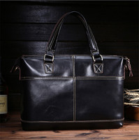 Men Cowhide Genuine Leather Briefcase Fashion Brand Handbag Business Vintage Retro Cow Bag Men Messenger Shoulder