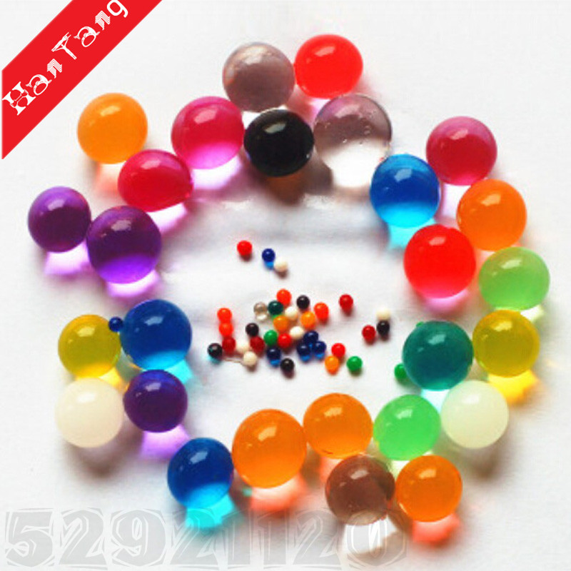 Riempitore del vaso di acqua Beads 500Pcs Growing Gel Jelly Gems sfere di cristallo perle Polymer Per Wedding decorazione multicolor