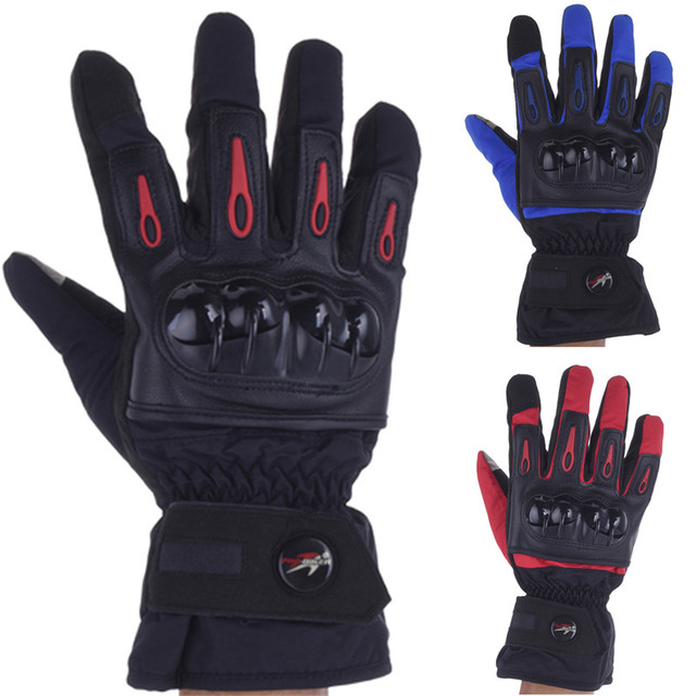 Winter Gloves Men Luva Moto Motorcycle Gloves Racing Waterproof Windproof Winter Warm Leather Cycling Bicycle Cold Guantes Luvas