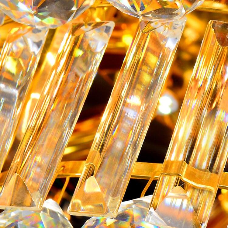 Moderne Lampade A Soffitto di Cristallo LED Luci A Soffitto Oro Casa Apparecchio Warm Neutral Bianco Freddo 3 Colori Variabile con Regolatore - 5