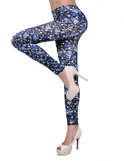 T2146/T2145 Popular sexy leggings leopard pattern fashion slim jeggings two style available excellent quality active wear women