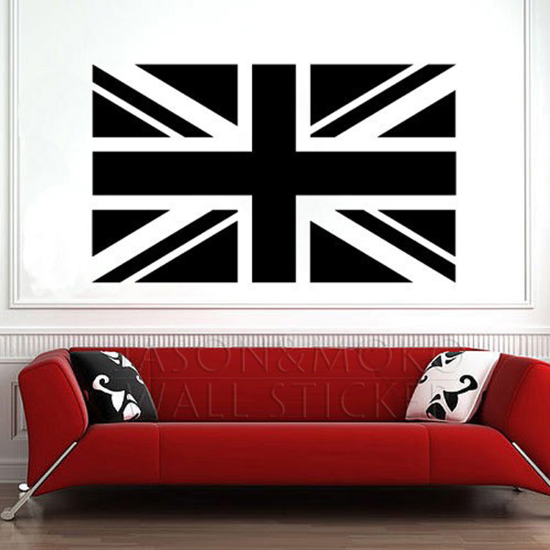 England great british flag country wall decal vinyl for Country wall mural