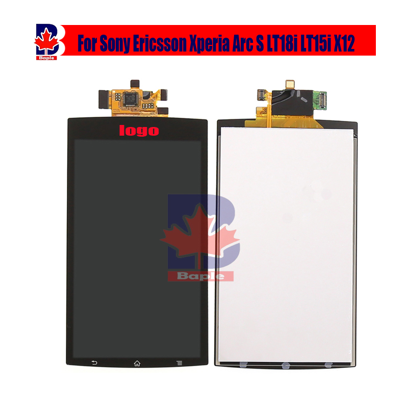 4.2 for Sony Ericsson Xperia Arc S LT18i LT15i X12 Black LCD Display Panel Monitor Touch Screen Digitizer Glass Sensor Assembly