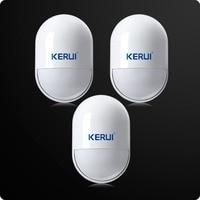 3 teile/los KERUI Wireless Sabotage Sensor 433 MHz Pir Bewegungsmelder Niedrigen Batterie Erinnerung Für Home Security Sprach Alarm System