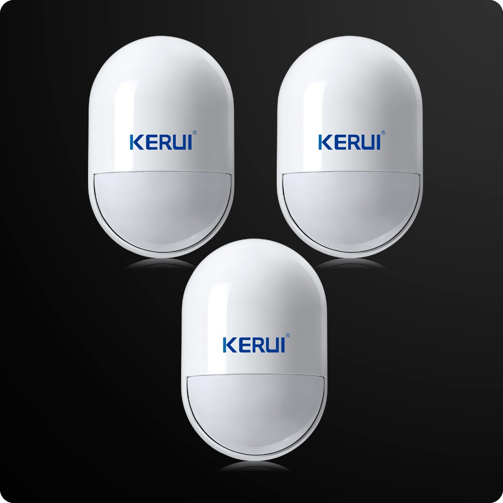 3pcs/lot KERUI Wireless Anti-Tamper Sensor 433MHz Pir Motion Detector Low Battery Reminder For Home Security Voice Alarm System kerui wireless window curtain pir motion detector positive infrared sensor low power circuit design 433mhz for alarm system