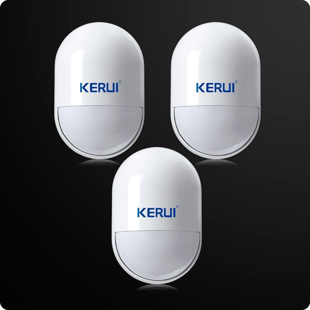 3pcs/lot KERUI Wireless Anti-Tamper Sensor 433MHz Pir Motion Detector Low Battery Reminder For Home Security Voice Alarm System 5pcc lot kerui s71 wireless eu us uk au standard smart switch socket 433mhz for home security alarm system