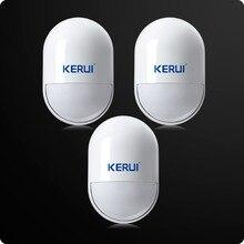 3pcs lot KERUI Wireless Anti Tamper Sensor 433MHz Pir Motion Detector Low