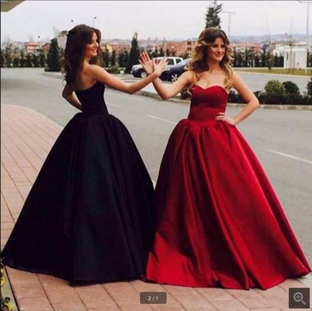 1ad4bf65af8 Ball Gown wine black beading sequined formal prom dress strapless  sweetheart neck tube prom gowns free shipping