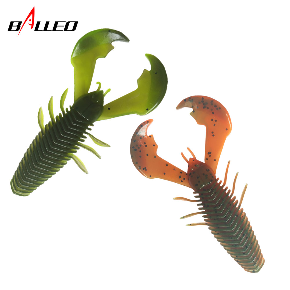3pcs/Soft Bait Silicone  Lobster Worm 10cm 10.4g Big Soft Worm Clamp Shrimp  Fishing Soft Lures Wobblers Bass Tackle
